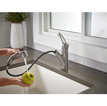 Slate Privé 1-Handle, Pull-Out Kitchen Faucet - F-534-7PVSL - 7