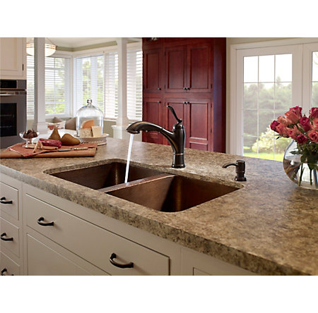Tuscan Bronze Glenfield 1-Handle, Pull-Out Kitchen Faucet - F-534-PGFY - 3