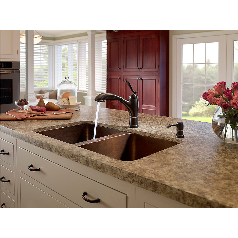 Bronze Kitchen Sink Faucets Tuscan Bronze Glenfield 1 Handle Pull Out Kitchen Faucet F 534