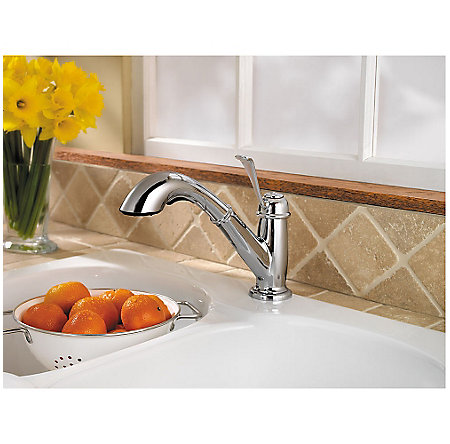 Polished Chrome Bixby 1-Handle, Pull-Out Kitchen Faucet - F-538-5LCC - 3
