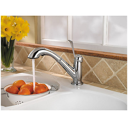 Polished Chrome Bixby 1-Handle, Pull-Out Kitchen Faucet - F-538-5LCC - 4