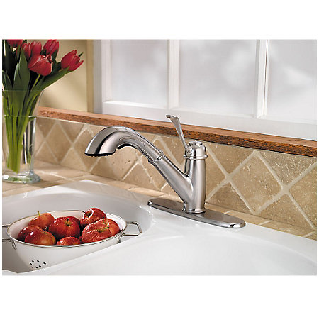 Stainless Steel Bixby 1-Handle, Pull-Out Kitchen Faucet - LF-538-5LCS - 7