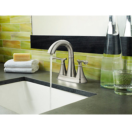 Brushed Nickel Ideal Centerset Bath Faucet - F-548-IDKK - 2