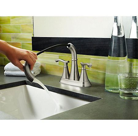 brushed nickel ideal centerset bath faucet - f-548-idkk - 3