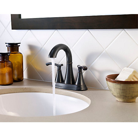 Tuscan Bronze Ideal Centerset Bath Faucet - LF-548-IDYY - 2