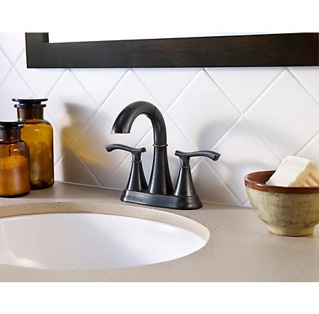 Tuscan Bronze Ideal Centerset Bath Faucet - LF-548-IDYY - 4