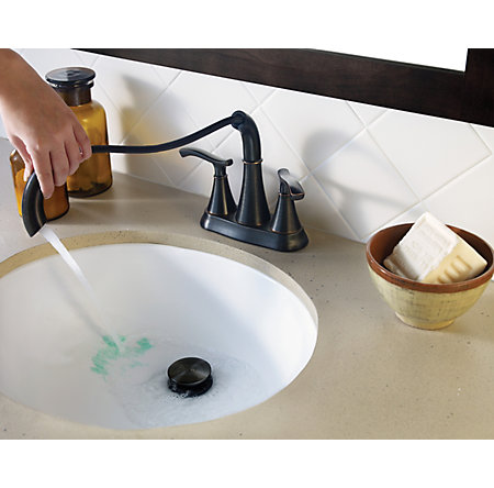 Tuscan Bronze Ideal Centerset Bath Faucet - LF-548-IDYY - 6