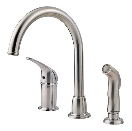 Stainless Steel Cagney 1-Handle Kitchen Faucet - F-WK1-680S - 1