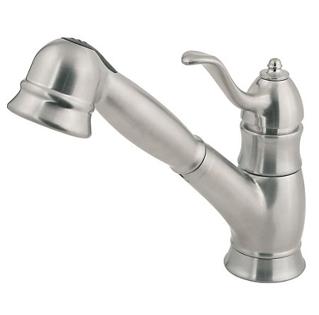 Stainless Steel Wilmington 1-Handle, Pull-Out Kitchen Faucet - F-WKP-600S - 1