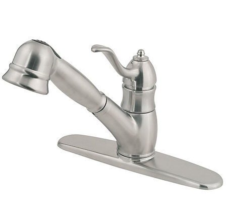Stainless Steel Wilmington 1-Handle, Pull-Out Kitchen Faucet - F-WKP-600S - 2