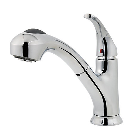 Polished Chrome Shelton 1-Handle, Pull-Out Kitchen Faucet - F-WKP-701C - 1