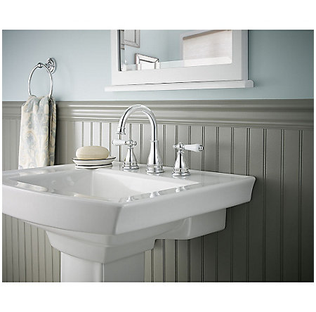 Polished Chrome Sonterra Widespread Bath Faucet - LF-WL8-SNPC - 3