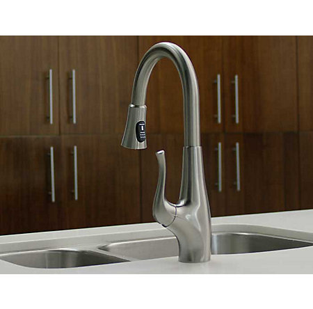 Stainless Steel Clarify with Xtract™ 1-Handle, Pull-Down Kitchen Faucet - F-529-FCYS - 10