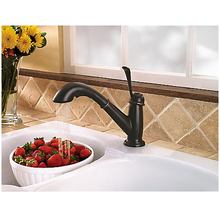 Tuscan Bronze Bixby 1-Handle, Pull-Out Kitchen Faucet - LF-538-5LCY - 5