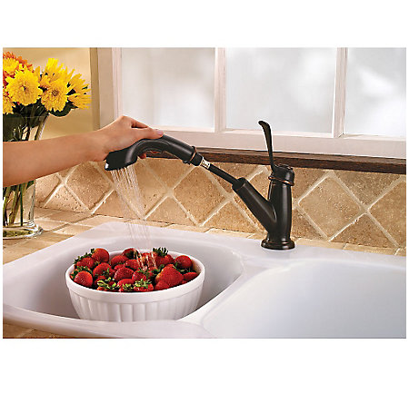 Tuscan Bronze Bixby 1-Handle, Pull-Out Kitchen Faucet - LF-538-5LCY - 6