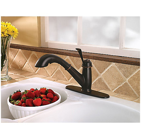 Tuscan Bronze Bixby 1-Handle, Pull-Out Kitchen Faucet - LF-538-5LCY - 7