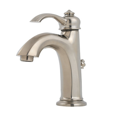 brushed nickel portola single control, centerset bath faucet - gt42-rp0k - 1