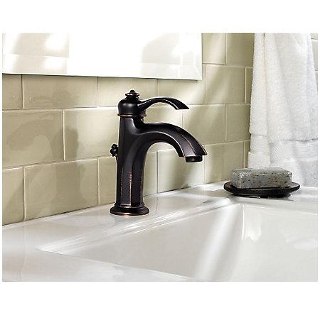 Tuscan Bronze Portola Single Control, Centerset Bath Faucet - GT42-RP0Y - 3