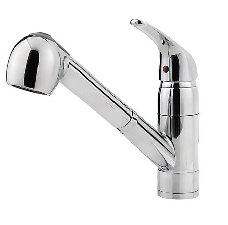 Polished Chrome Pfirst Series 1-Handle, Pull-out Kitchen Faucet - G133-10CC - 1