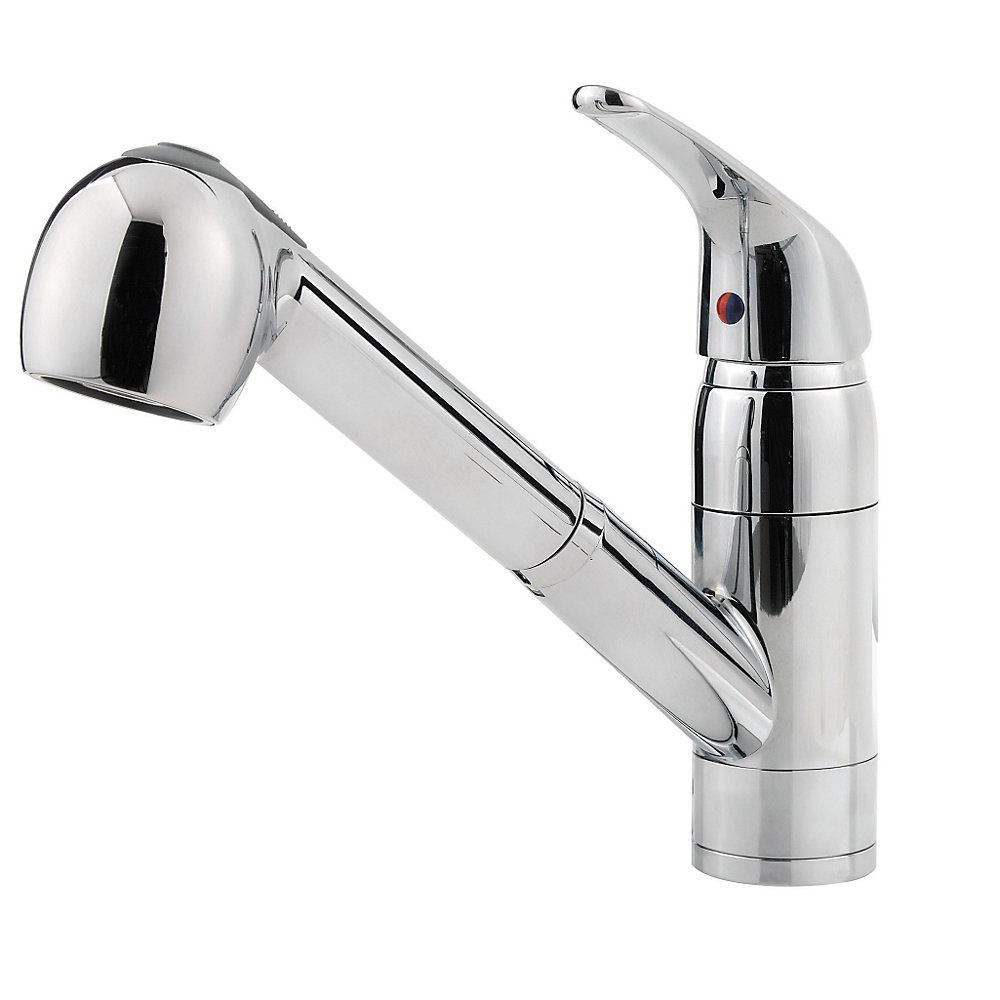 Pfister Kitchen Faucet Polished Chrome Pfirst Series 1 Handle Pull Out Kitchen Faucet