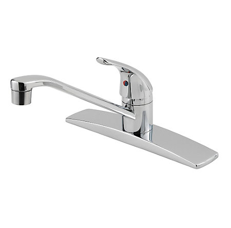 Polished Chrome Pfirst Series 1-Handle Kitchen Faucet - G134-1444 - 1