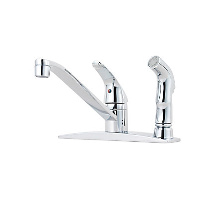 Polished Chrome Pfirst Series 1-Handle Kitchen Faucet - G134-3444 - 1