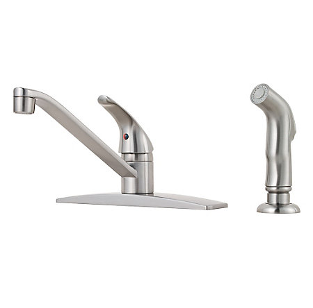Stainless Steel Pfirst Series 1-Handle Kitchen Faucet - G134-444S - 1