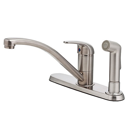 Stainless Steel Pfirst Series 1-Handle Kitchen Faucet - G134-600S - 1