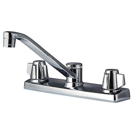 Polished Chrome Pfirst Series 2-Handle Kitchen Faucet - G135-2000 - 1