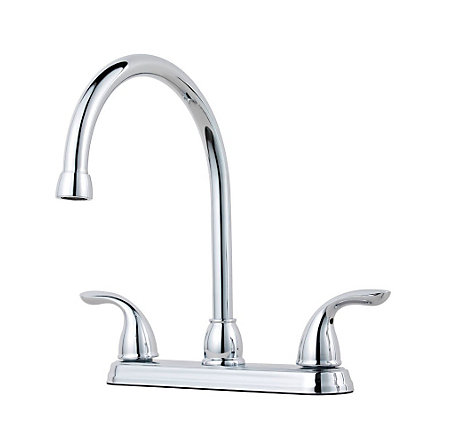 Polished Chrome Pfirst Series 2-Handle Kitchen Faucet - G136-2000 - 1