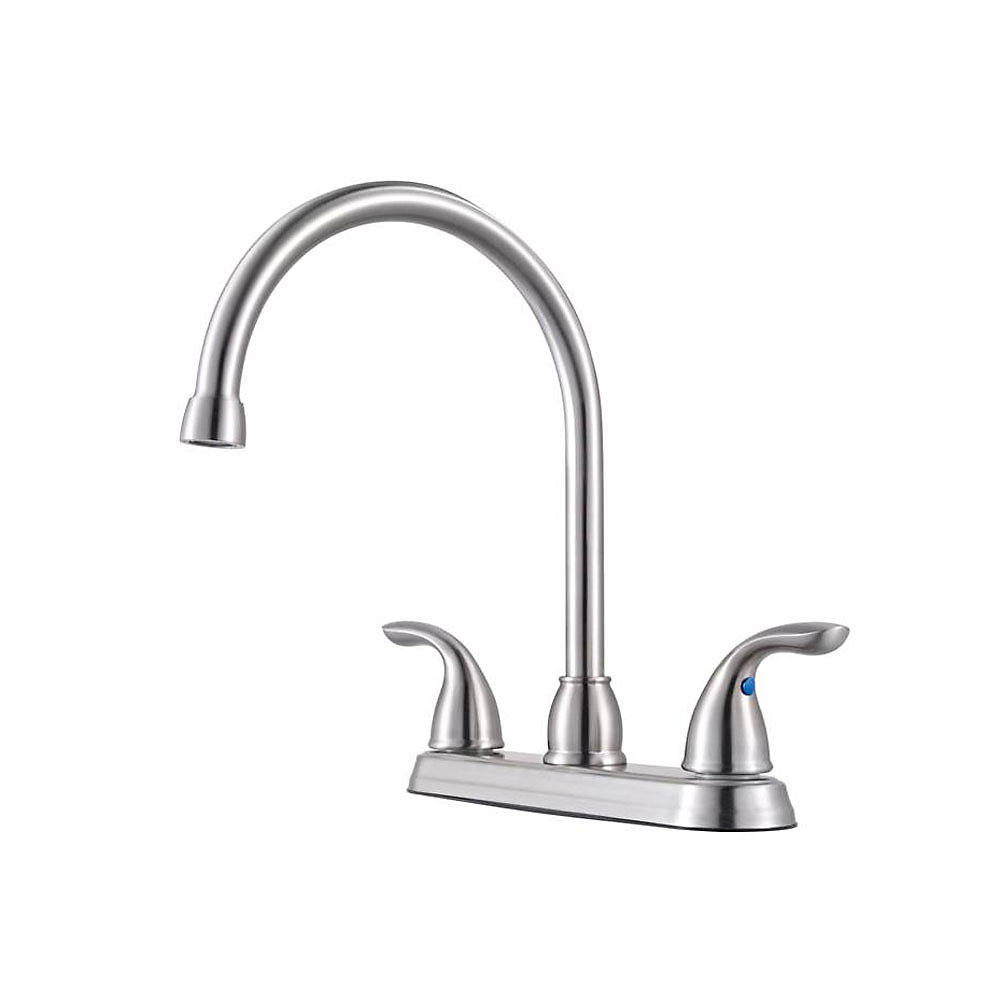 Pfister Kitchen Faucets Stainless Steel Pfirst Series 2 Handle Kitchen Faucet G136 200s