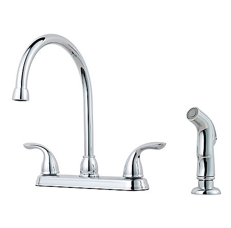 Polished Chrome Pfirst Series 2-Handle Kitchen Faucet - G136-5000 - 1