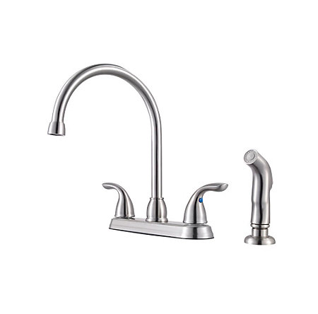 Stainless Steel Pfirst Series 2-Handle Kitchen Faucet - G136-500S - 1