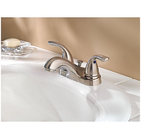 Brushed Nickel Pfirst Series Centerset Bath Faucet - G143-610K - 2