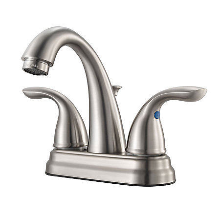 Brushed Nickel Pfirst Series Centerset Bath Faucet - G148-700K - 1