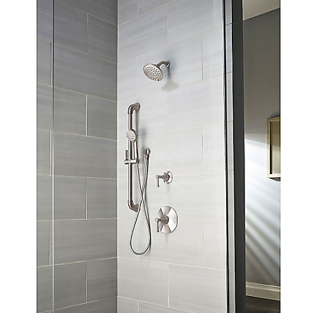 Brushed Nickel Arterra 1-Handle Tub & Shower, Trim Only - G89-8DEK - 2