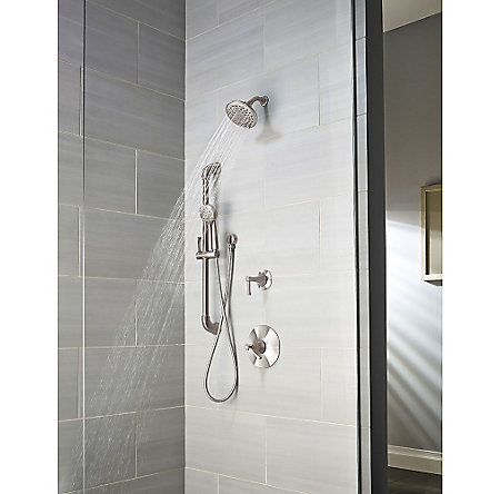 Brushed Nickel Arterra 1-Handle Tub & Shower, Trim Only - G89-8DEK - 3