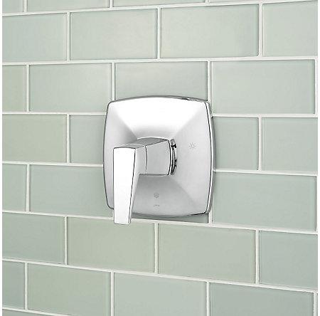Polished Chrome Arkitek 1-Handle Tub & Shower, Trim Only - G89-8LPMC - 4