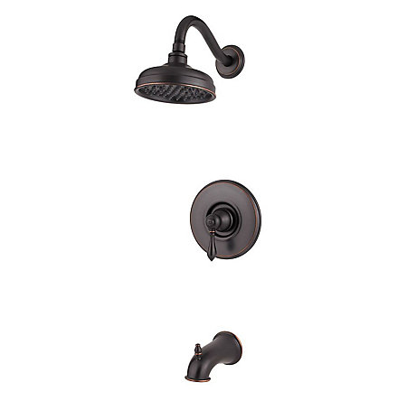 Tuscan Bronze Marielle 1-Handle Tub & Shower, Trim Only - G89-8MBY - 1