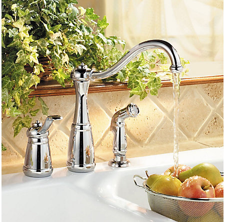 Polished Chrome Marielle 1-Handle Kitchen Faucet - LG26-3NCC - 2