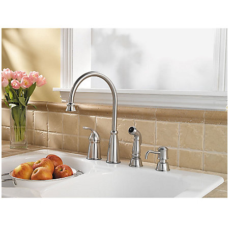 Stainless Steel Avalon 1-Handle Kitchen Faucet - GT26-4CBS - 3