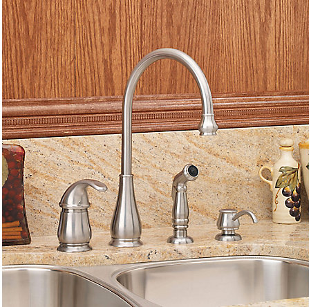 stainless steel treviso 1-handle kitchen faucet - gt26-4dss - 2