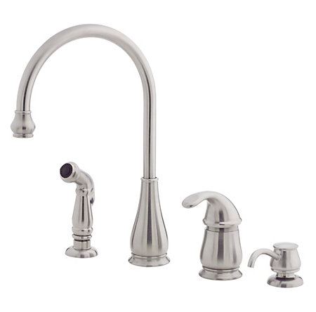 stainless steel treviso 1-handle kitchen faucet - gt26-4dss - 1