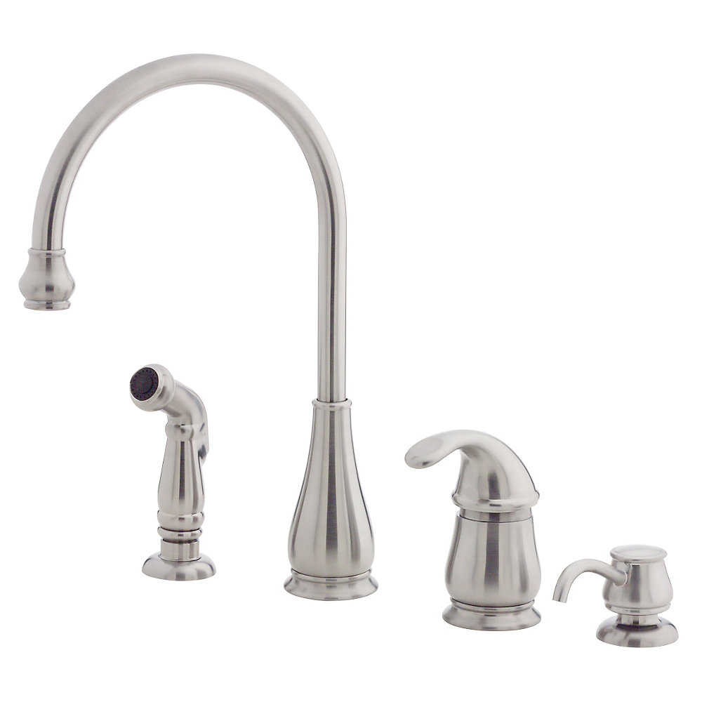 Pfister Kitchen Faucet Stainless Steel Treviso 1 Handle Kitchen Faucet Lg26 4dss
