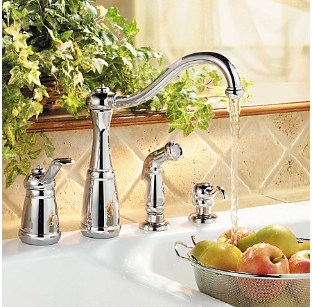 Polished Chrome Marielle 1-Handle Kitchen Faucet - GT26-4NCC - 2