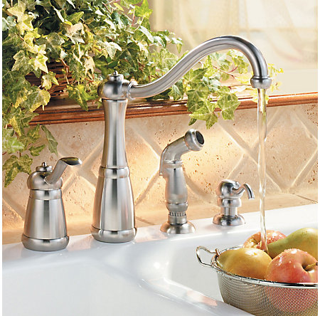 Stainless Steel Marielle 1-Handle Kitchen Faucet - LG26-4NSS - 2