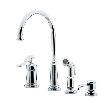 Polished Chrome Ashfield 1-Handle Kitchen Faucet - GT26-4YPC - 1