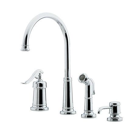 polished chrome ashfield 1-handle kitchen faucet - gt26-4ypc - 1