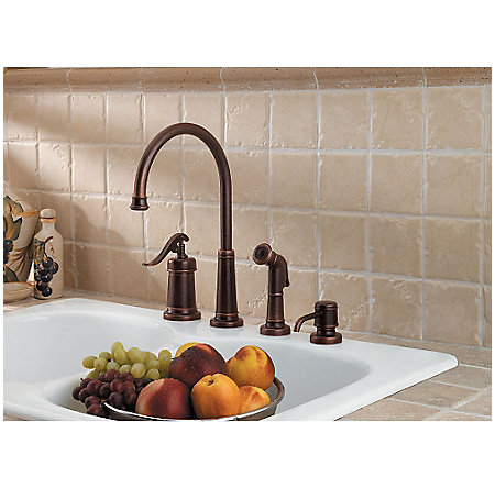 Rustic Bronze Ashfield 1-Handle Kitchen Faucet - GT26-4YPU - 2