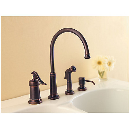 Rustic Bronze Ashfield 1-Handle Kitchen Faucet - GT26-4YPU - 3